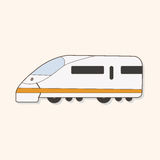 Transportation train theme elements vector,eps Royalty Free Stock Photos