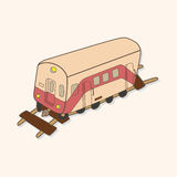 Transportation train theme elements vector,eps Royalty Free Stock Images