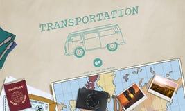 Transportation Travel Automobile Vehicle Concept. Transportation Travel Automobile Vehicle Destination Stock Photography