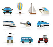 Transportation and travel icons. Vector icon set Royalty Free Stock Photography