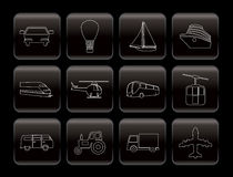 Transportation and travel icons Stock Images