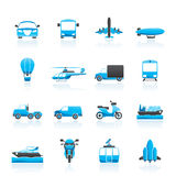 Transportation and travel icons. Vector icon set Royalty Free Stock Images