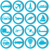 Transportation and travel icons. Set. Vector illustration Royalty Free Stock Photography