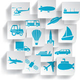 Transportation and travel icons Royalty Free Stock Photography