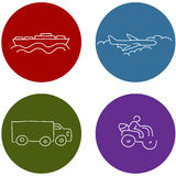 Transportation Travel Icons. An image of travel transportation icons Royalty Free Stock Photography