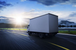Transportation truck on high way. Transportation truck traveling on high way Stock Images