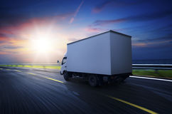 Transportation truck on high way. Stock Images