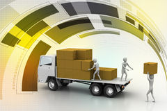 Transportation trucks in freight delivery Stock Photography