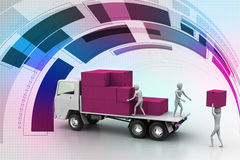 Transportation trucks in freight delivery Royalty Free Stock Image
