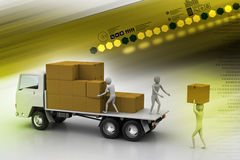 Transportation trucks in freight delivery Royalty Free Stock Images