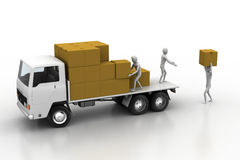 Transportation trucks in freight delivery Royalty Free Stock Photography