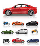 Transportation Vehicle Car Motorcycle Performance Concept Royalty Free Stock Photo