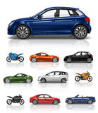 Transportation Vehicle Car Motorcycle Performance Concept Royalty Free Stock Photography