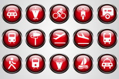 Transportation and Vehicle icons Stock Photography