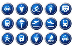 Transportation and Vehicle icons Stock Photo
