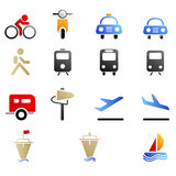 Transportation and Vehicle icons Royalty Free Stock Photography