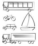 transportation vehicles stock illustration