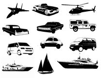 Transportation Vehicles Royalty Free Stock Photo