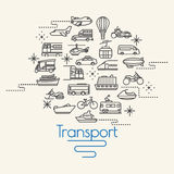 Transportation and Vehicles icons. Background Stock Images