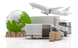 Transportation. Vehicles for the transport of goods Stock Image
