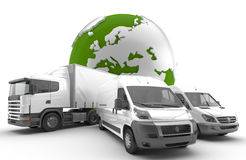 Transportation. Vehicles for the transport of goods Royalty Free Stock Images