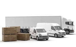 Transportation. Vehicles for the transport of goods Royalty Free Stock Photography