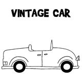 Transportation of vintage car vector. With hand draw Stock Image