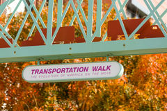 Transportation Walk in fall at Washington DC Royalty Free Stock Image