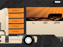 Transportation web template design Stock Image