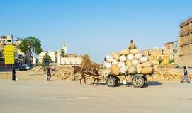 Transportation of wool Royalty Free Stock Image