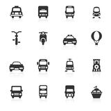 Transportations Icons - minimo series. Transportations vector  icons set isolated over white background - minimo series  Files included: eps8, ai CS, high-res Stock Photography
