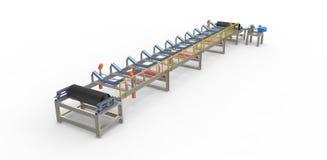 Transportband för transporten av material Fotografering för Bildbyråer