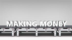 Transportband met woordanimatie royalty-vrije illustratie