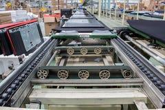 Transportband, productielijn van de fabriek Royalty-vrije Stock Foto's
