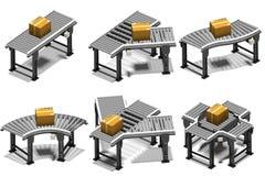 Transportbanden met Pakketten Royalty-vrije Stock Afbeelding