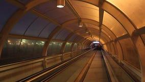 Transportbandtunnel stock footage