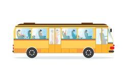 Transportbuss för passagerare offentligt royaltyfri illustrationer