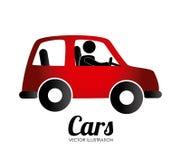 Transportdesign über weißer Hintergrundvektorillustration Lizenzfreies Stockfoto