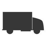 24 Transportdienst mit 7 LKWs Stockbilder