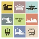 Transporte ícones Imagens de Stock