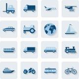 Transporte ícones Fotografia de Stock Royalty Free