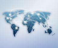 Viaje alrededor del globo ilustración del vector