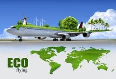 Transporte aéreo ecológico Foto de archivo libre de regalías