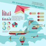 Transporte aéreo infographic Fotos de Stock Royalty Free