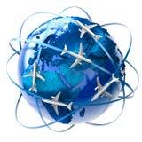Transporte aéreo internacional Fotos de archivo libres de regalías