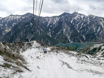 Transporte alpino Nagano do ropeway, Japão Imagens de Stock