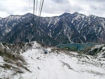 Transporte alpino Nagano, Japón del ferrocarril aéreo Imagenes de archivo
