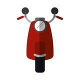 Transporte clásico del motrocycle rojo de la vespa Imagen de archivo libre de regalías