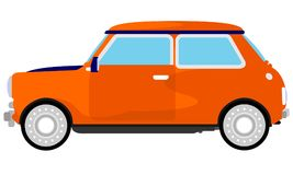 Transporte clássico pequeno do carro ilustração do vetor