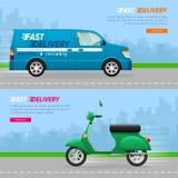transporte Coleção de dois ícones do automóvel ilustração royalty free